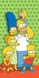 Osuška Simpsons family zelená  75/150