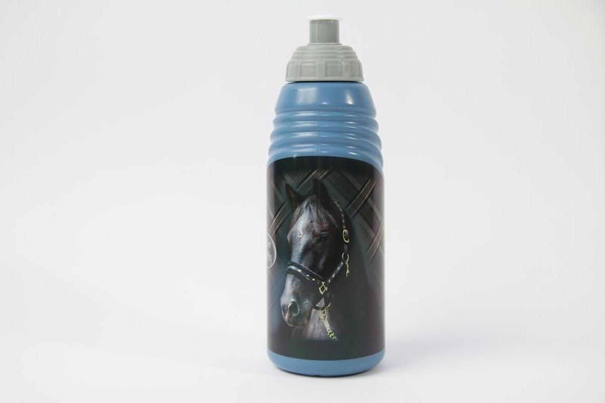 BENIAMIN Láhev na pití Nice and Pretty Kůň modrá Plast, výška 19 cm, průměr 6,5cm, objem 470 ml