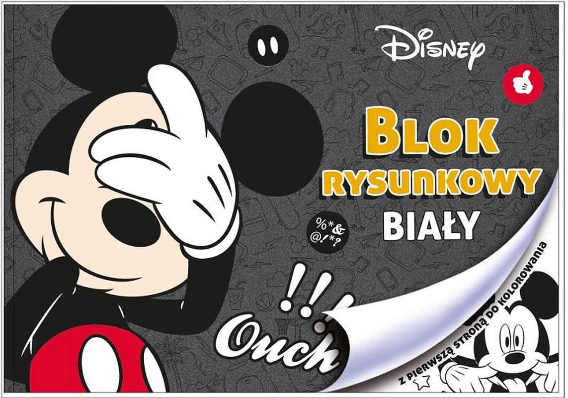 BENIAMIN Blok na kreslení s omalovánkami Mickey Papír, 29x21 cm