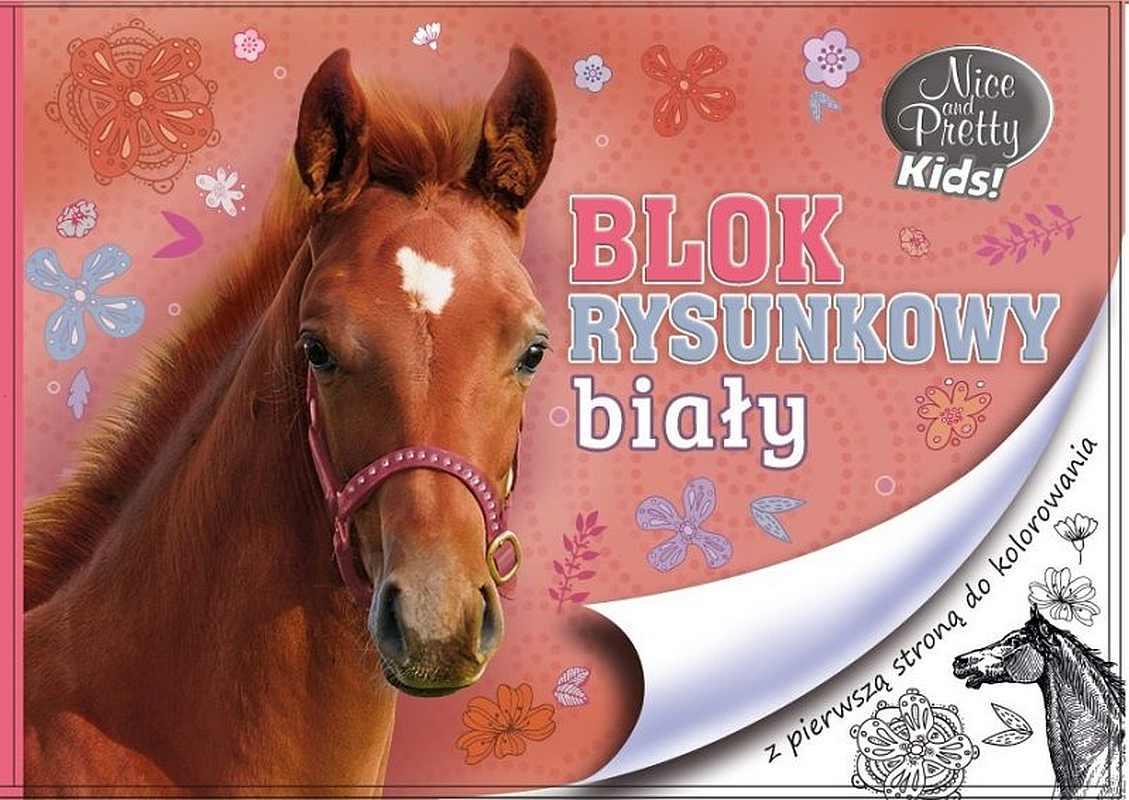 BENIAMIN Blok na kreslení s omalovánkami Nice and Pretty Kůň Papír, 29x21 cm