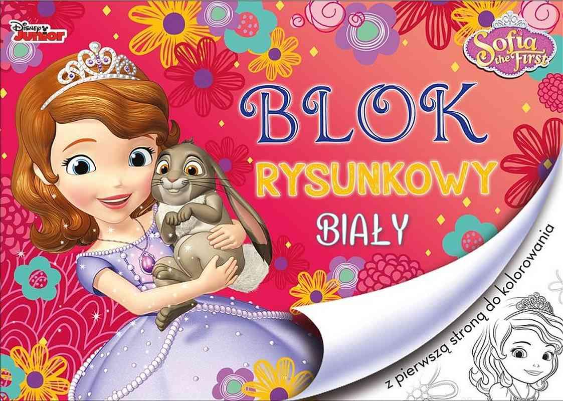 BENIAMIN Blok na kreslení s omalovánkami Princezna Sofie první Papír,  29x21 cm