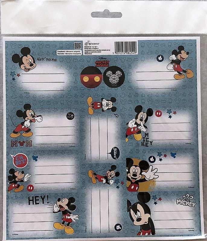 BENIAMIN Samolepící jmenovky Mickey Papír, 20x20 cm