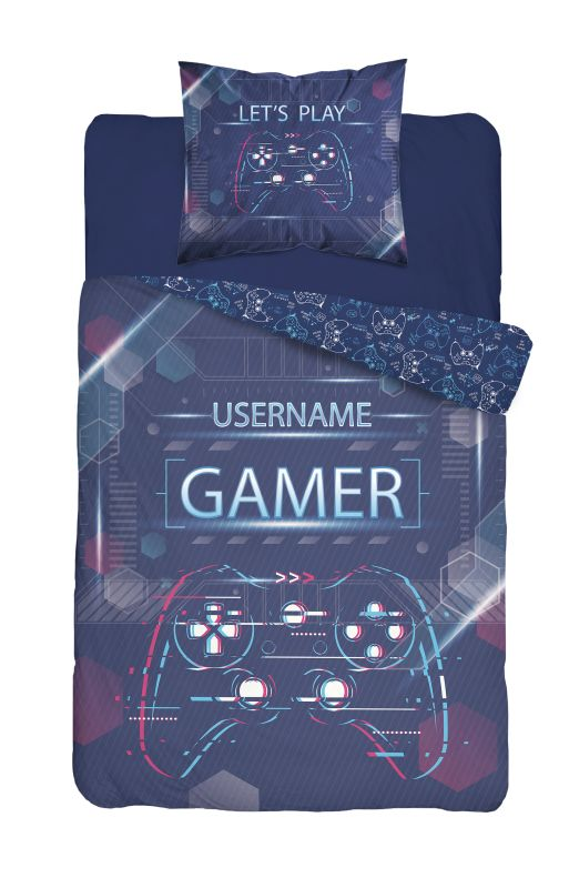 DETEXPOL Povlečení Gamer blue  Bavlna, 140/200, 70/80 cm