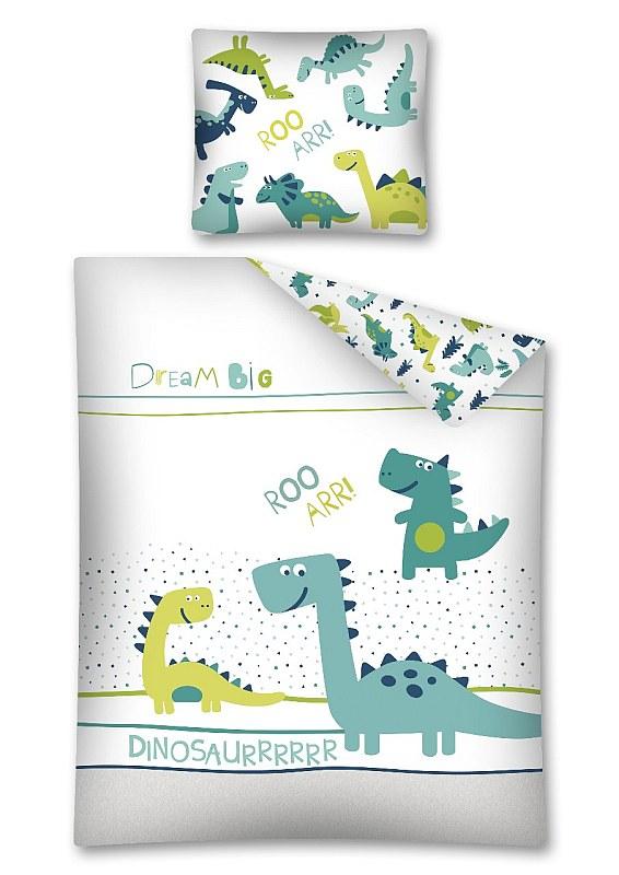 DETEXPOL Povlečení Dino svítící  Bavlna, 140/200, 70/80 cm