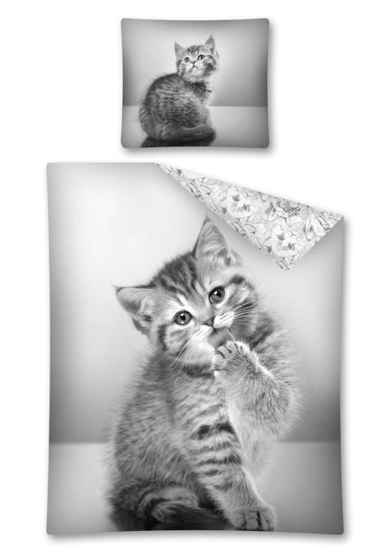 DETEXPOL Povlečení Sweet Animals kotě, 140/200, 70/80 cm
