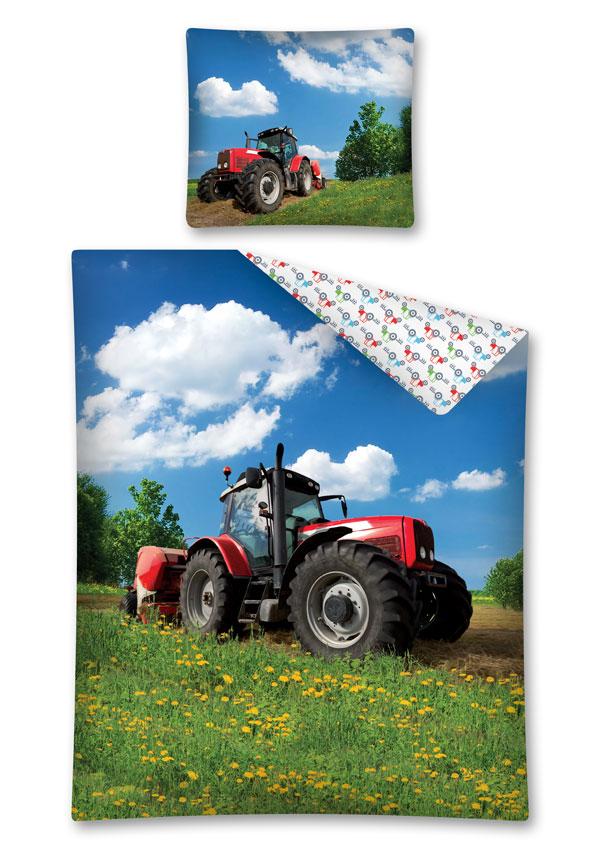Povlečení Traktor na louce 140/200, 70/80