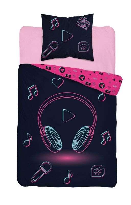 DETEXPOL Povlečení Music  Bavlna, 140/200, 70/80 cm