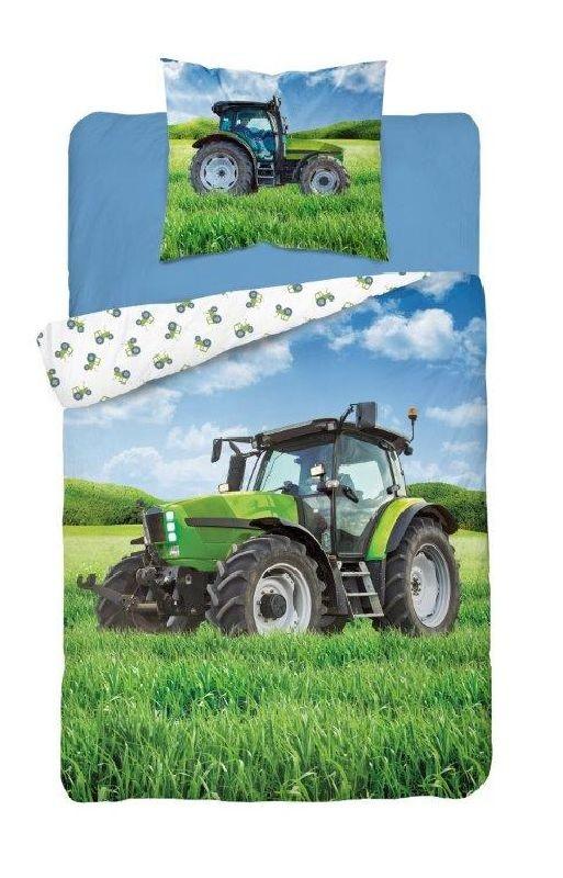 DETEXPOL Povlečení Traktor green  Bavlna, 140/200, 70/80 cm