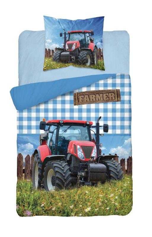 DETEXPOL Povlečení Traktor Farmer  Bavlna, 140/200, 70/80 cm