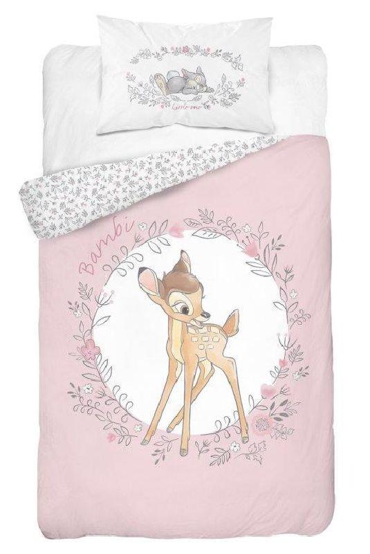 DETEXPOL Povlečení do postýlky Bambi růžová  Bavlna, 100/135, 40/60 cm