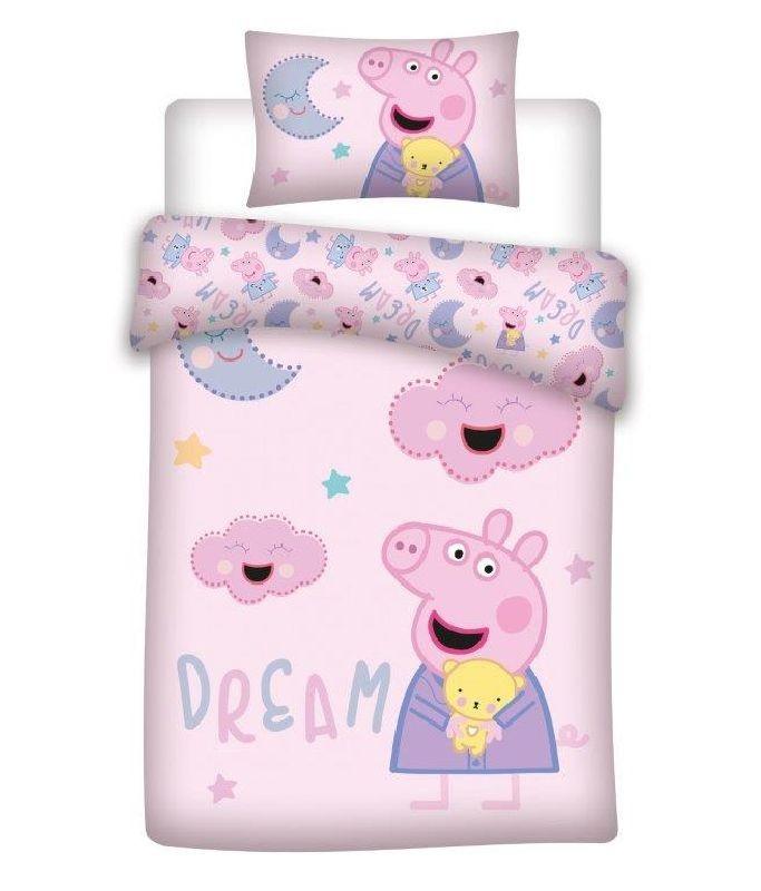 DETEXPOL Povlečení do postýlky Peppa Pig dream  Bavlna, 100/135, 40/60 cm