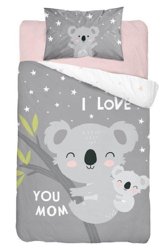 DETEXPOL Povlečení do postýlky Koala Love grey  Bavlna, 100/135, 40/60 cm
