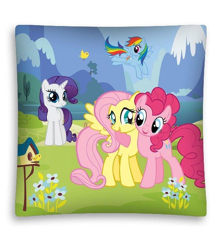 DETEXPOL Povlak na polštářek My Little Pony louka micro  Polyester, 40/40 cm
