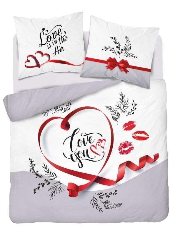 DETEXPOL Francouzské povlečení Love you  Bavlna, 220/200, 2x70/80 cm