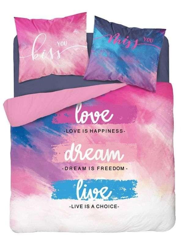 DETEXPOL Francouzské povlečení Love dream  Bavlna, 220/200, 2x70/80 cm