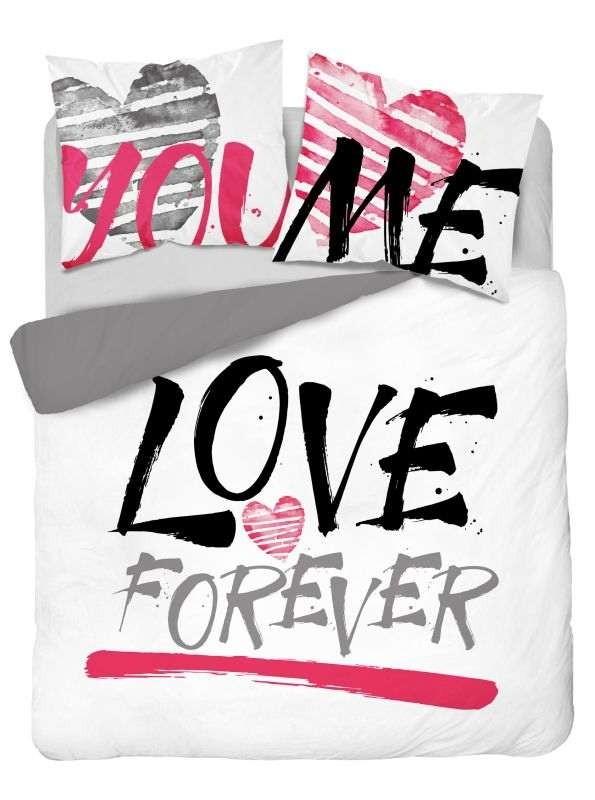 DETEXPOL Francouzské povlečení Love Forever  Bavlna, 220/200, 2x70/80 cm