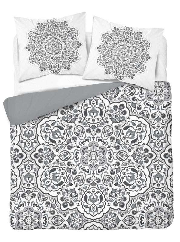 DETEXPOL Francouzské povlečení Mandala grey  Bavlna, 220/200, 2x70/80 cm