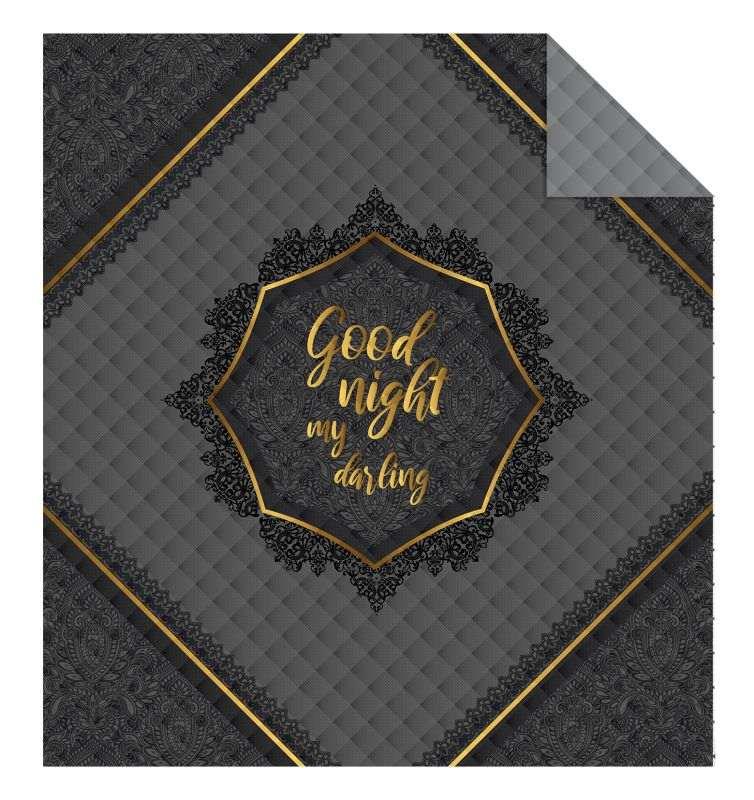 DETEXPOL Přehoz na postel Good Night grey  Polyester, 170/210 cm