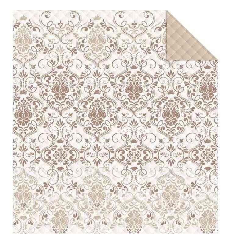DETEXPOL Přehoz na postel Ornamenty béžová  Polyester, 170/210 cm