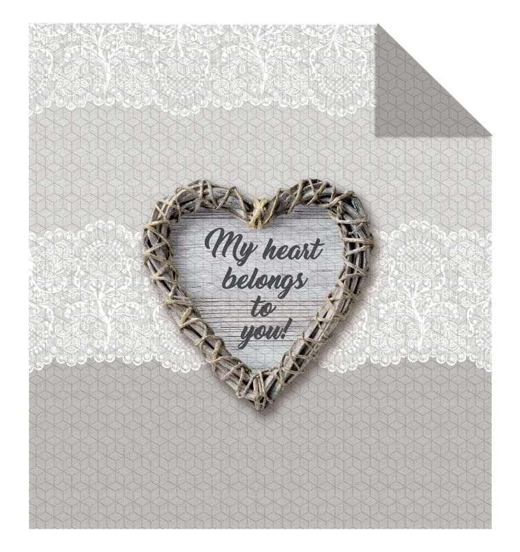 DETEXPOL Přehoz na postel My Heart  Polyester, 170/210 cm