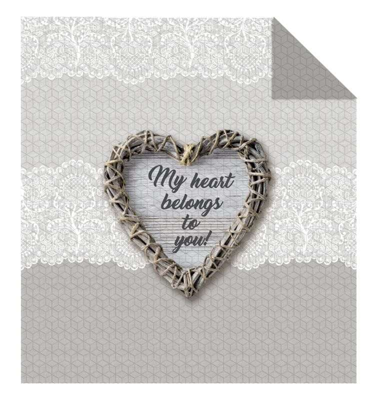 DETEXPOL Přehoz na postel My Heart  Polyester, 220/240 cm
