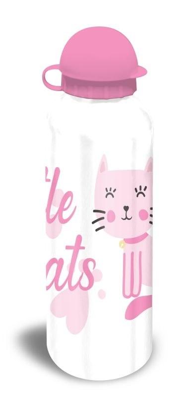 EUROSWAN ALU láhev Kočičky bílá  Hliník, Plast, 500 ml