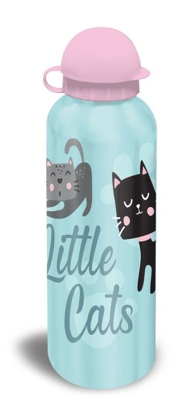 EUROSWAN ALU láhev Kočičky modrá  Hliník, Plast, 500 ml