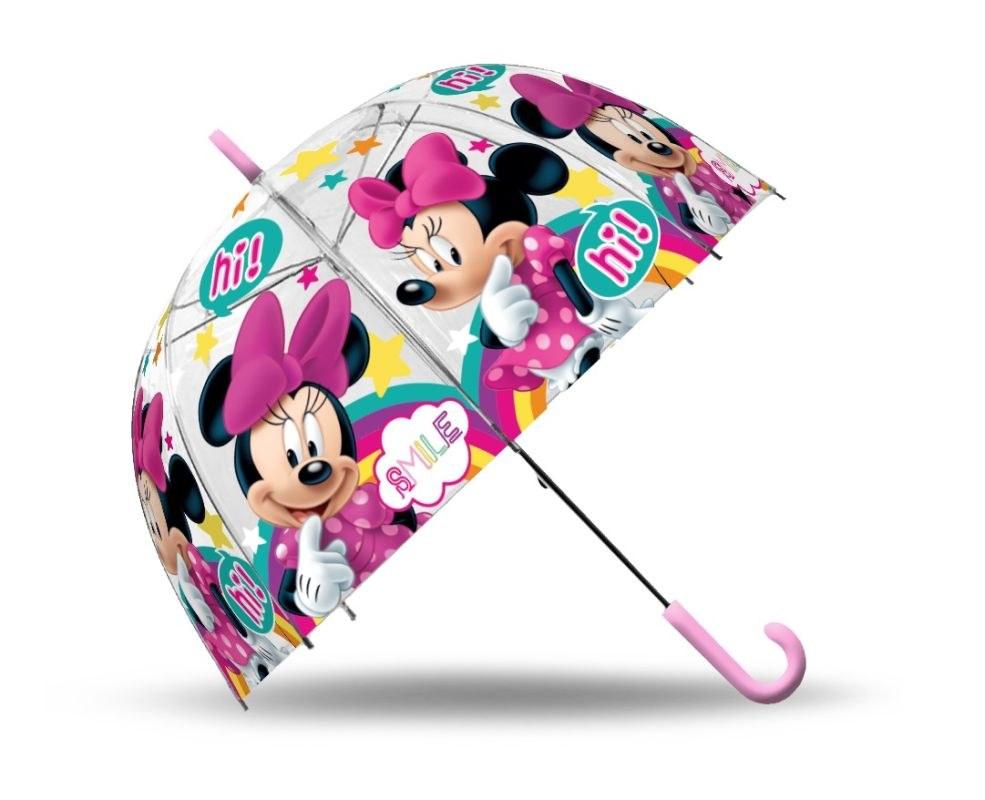 EUROSWAN Průhledný deštník Minnie Smile POE, průměr 70 cm