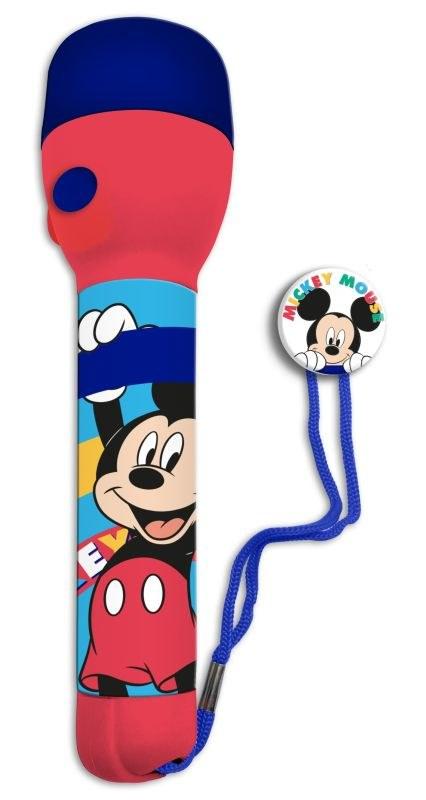 EUROSWAN Dětská LED svítilna, baterka Mickey PVC, LED, 1x16x4 cm