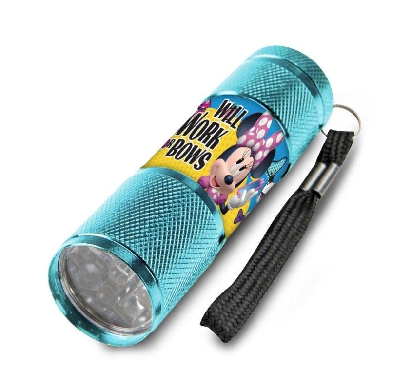 EUROSWAN Dětská hliníková LED baterka Minnie work Hliník, Plast,  9x2,5 cm
