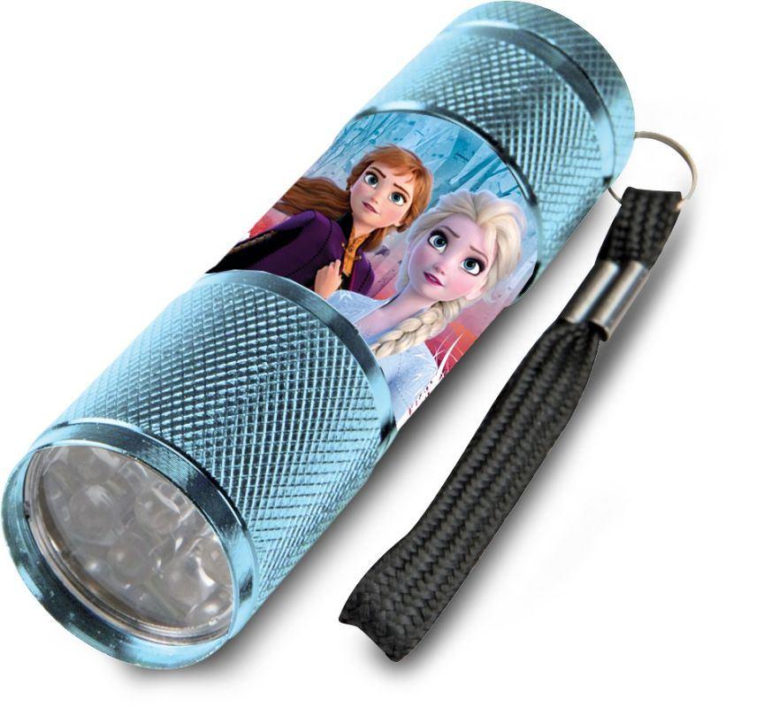 EUROSWAN Dětská hliníková LED baterka Ledové Království Anna a Elsa Hliník, Plast,  9x2,5 cm
