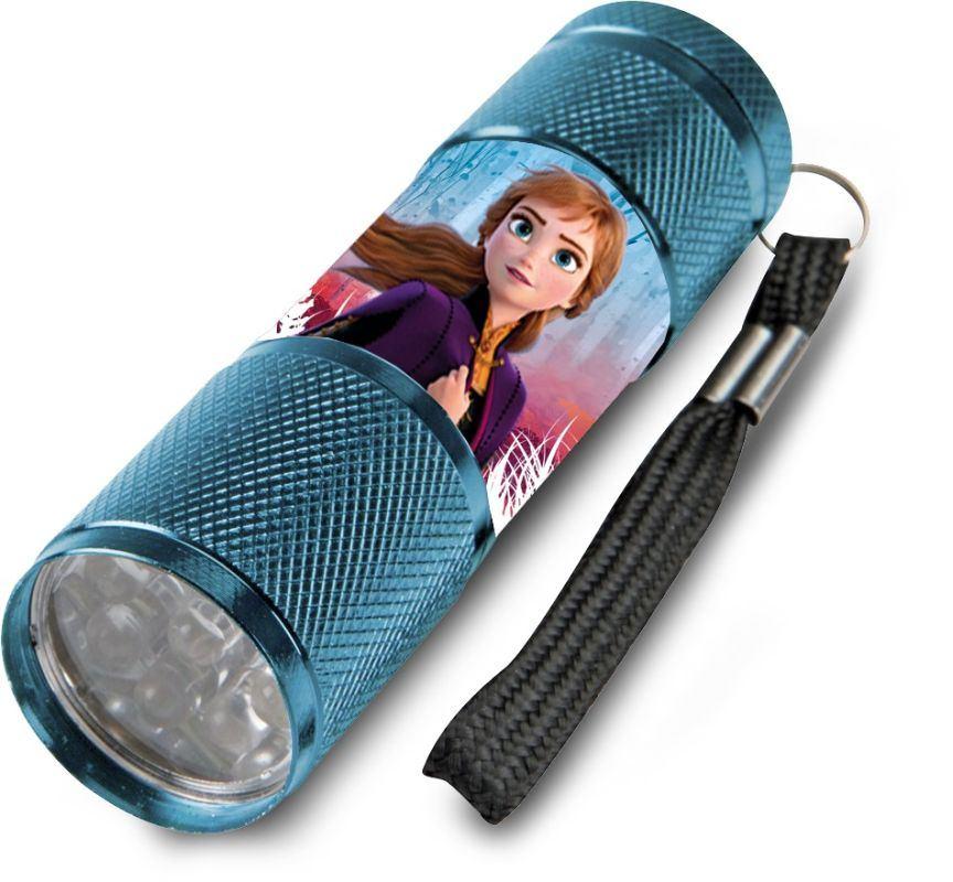 EUROSWAN Dětská hliníková LED baterka Ledové Království Anna Hliník, Plast,  9x2,5 cm