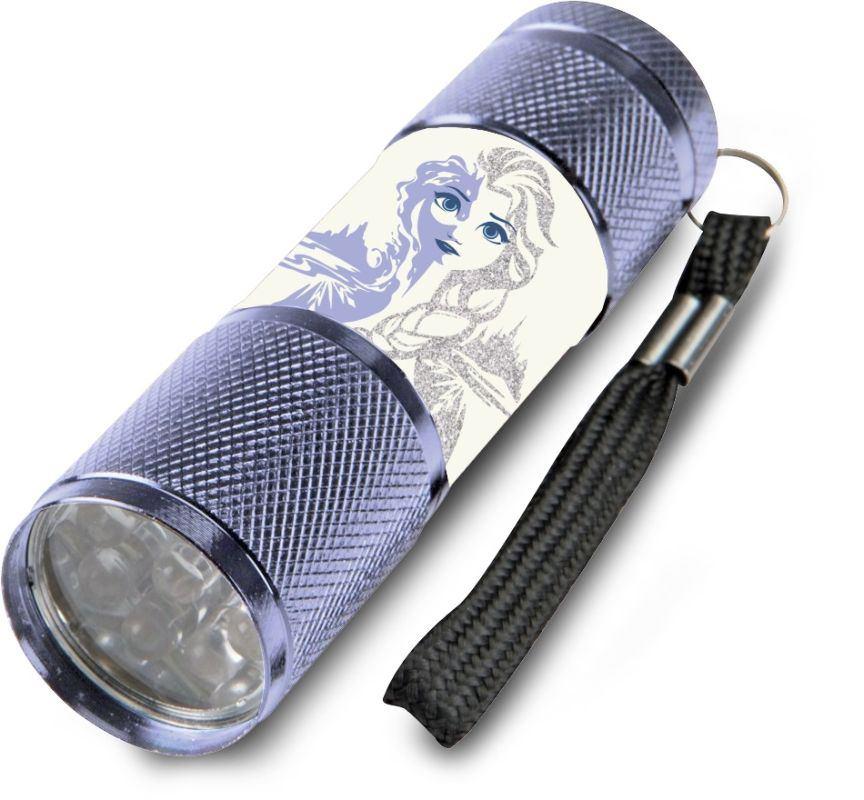 EUROSWAN Dětská hliníková LED baterka Ledové Království Elsa Ice Hliník, Plast,  9x2,5 cm