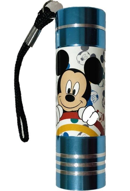 EUROSWAN Dětská hliníková LED baterka Mickey Hliník, Plast,  9x2,5 cm