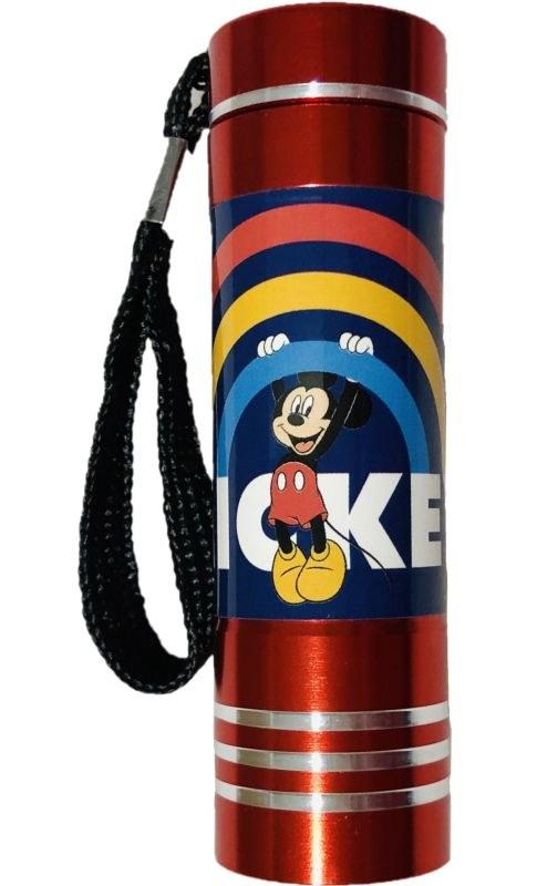 EUROSWAN Dětská hliníková LED baterka Mickey red Hliník, Plast,  9x2,5 cm