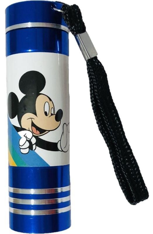 EUROSWAN Dětská hliníková LED baterka Mickey blue Hliník, Plast,  9x2,5 cm