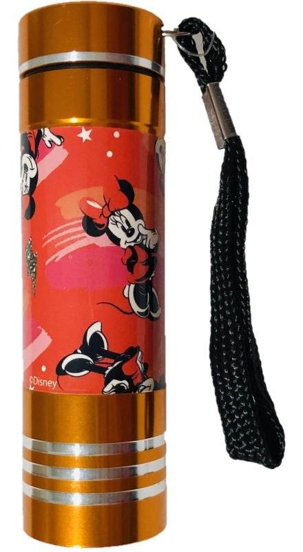 EUROSWAN Dětská hliníková LED baterka Minnie oranžová Hliník, Plast,  9x2,5 cm