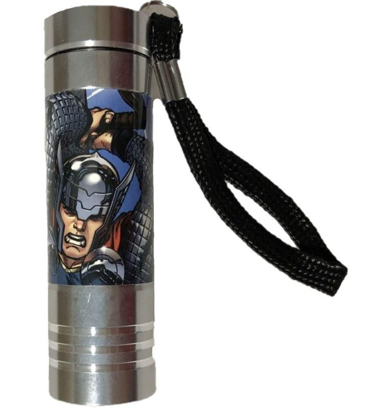 EUROSWAN Dětská hliníková LED baterka Avengers silver Hliník, Plast,  9x2,5 cm
