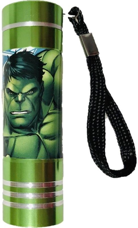 EUROSWAN Dětská hliníková LED baterka Avengers green Hliník, Plast,  9x2,5 cm