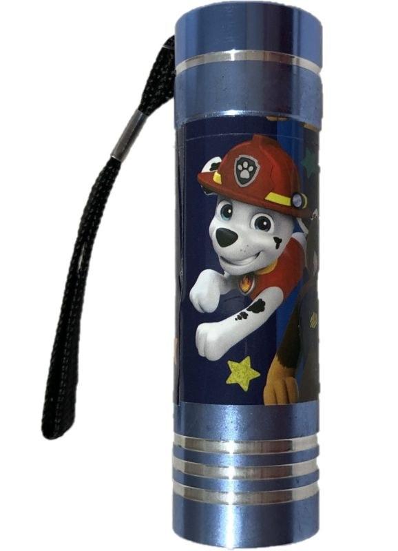 EUROSWAN Dětská hliníková LED baterka Paw Patrol modrá Hliník, Plast,  9x2,5 cm