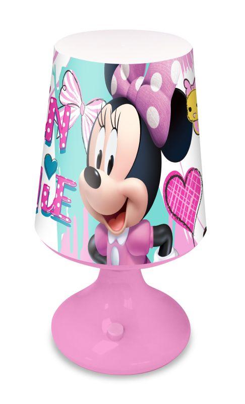 Noční stolní LED lampička Minnie hearts