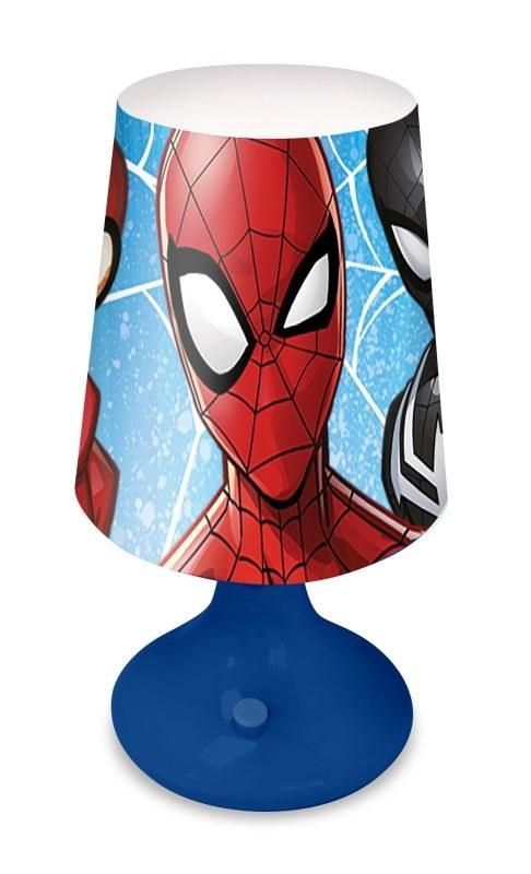 EUROSWAN Noční stolní LED lampička Spiderman Plast, 18x9 cm