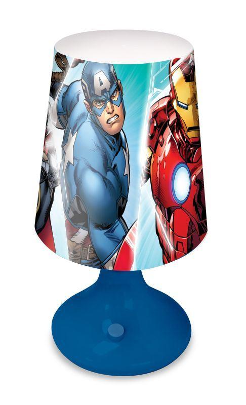 EUROSWAN Noční stolní LED lampička Avengers Plast, 18x9 cm