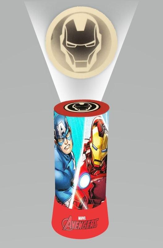 EUROSWAN LED projektor Lampička Avengers Plast, 19x9 cm