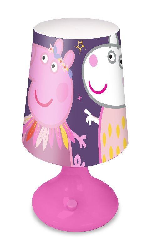 EUROSWAN Noční stolní LED lampička Peppa Pig Plast, 18x9 cm