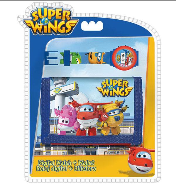 Dárková sada peněženka a hodinky Super Wings - NOVINKY