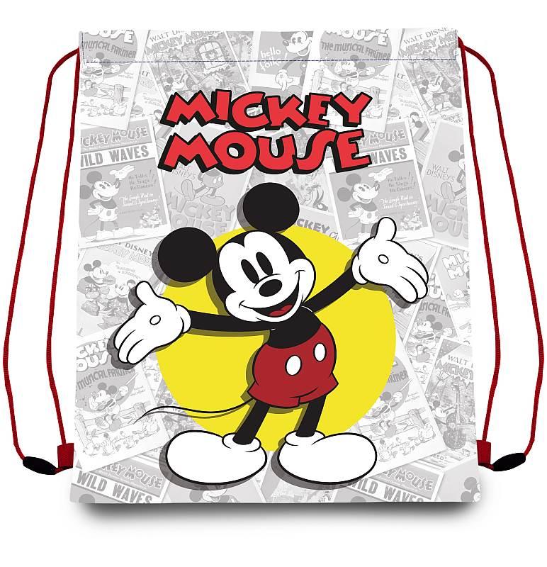 EUROSWAN Taška na tělocvik a přezůvky Mickey klasik  Polyester, 41/33 cm