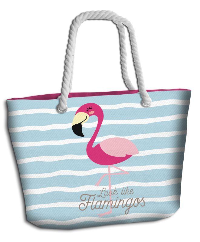 Plážová taška Plameňák