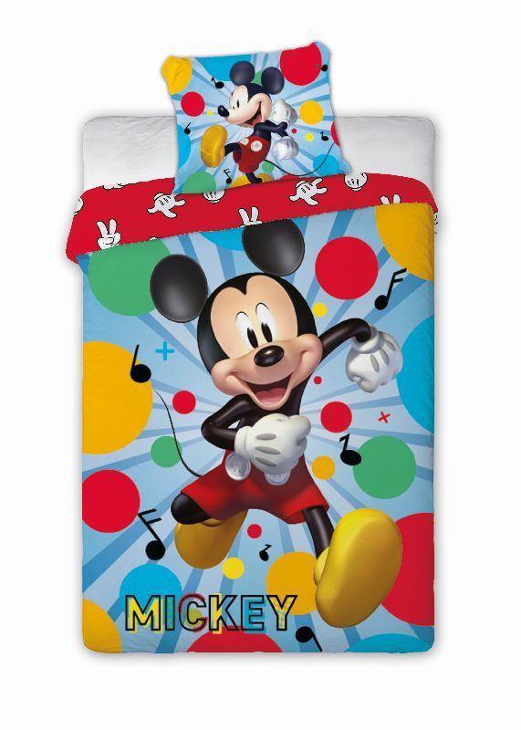 FARO Povlečení Mickey Happy Bavlna, 140/200, 70/90 cm