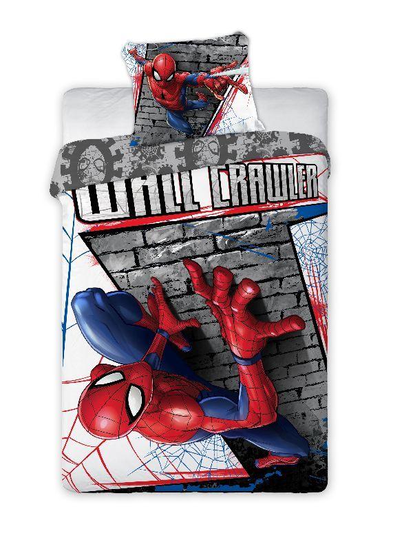 FARO Povlečení Spiderman zeď  Bavlna, 140/200, 70/90 cm